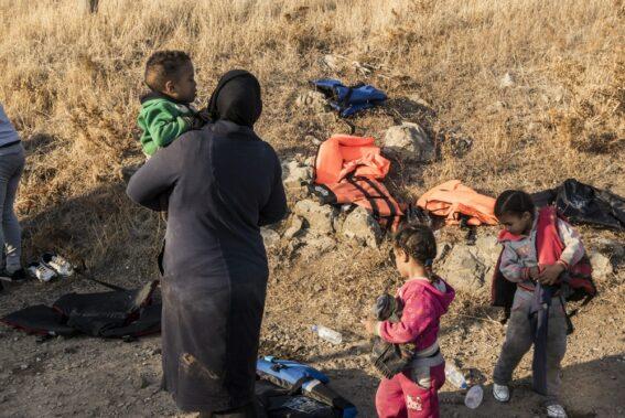 Refugees on the Greek islands awaiting asylum