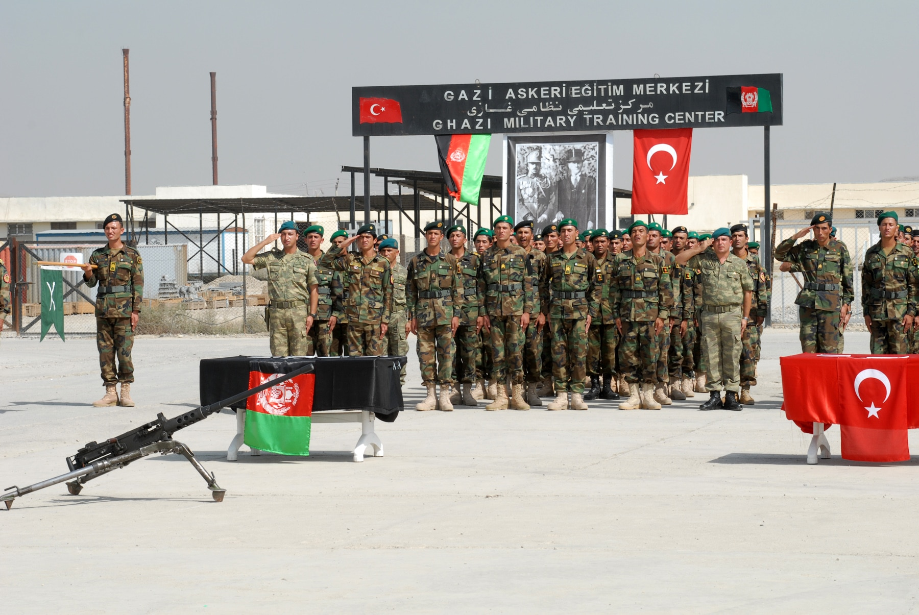 Turkey trained Afghan non commissioned officers salute during a graduation ceremony welcoming them into the Afghan National Army. Source  U.S. Air Force photo Staff Sgt. Laura R. McFarlane - Rise to Peace1